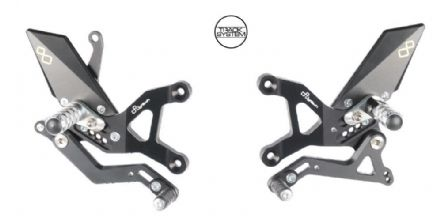 LighTech Kawasaki ZX6R / ZX636R 2005-2019 Adjustable Rearsets - Standard Shift